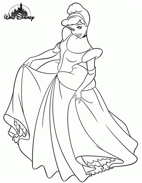 princess coloring pages not disney disney princess cinderella colouring pages for print