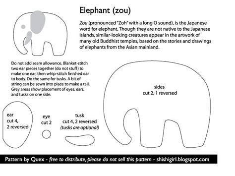 felt elephant craft pattern wool projects pinterest