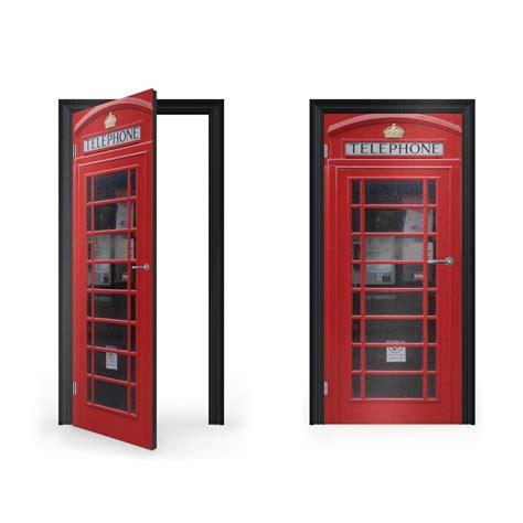 door stickers red telephone box vinyl sticker for door vinyl revolution