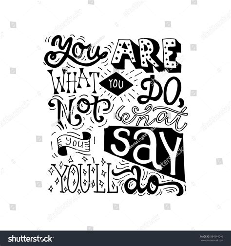 typography quotes vector painted inspiration quote you what stock vector 584544046