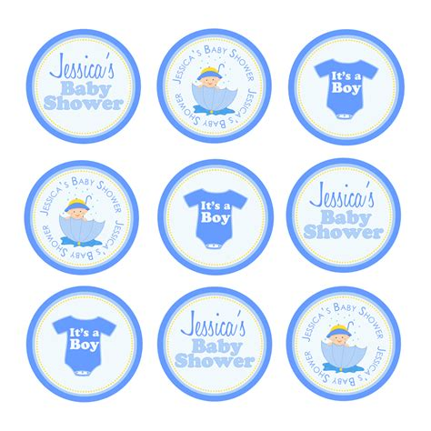 Baby Shower Topper by Ek Design Gallary Baby Boy Thank You Tags Cupcake Toppers