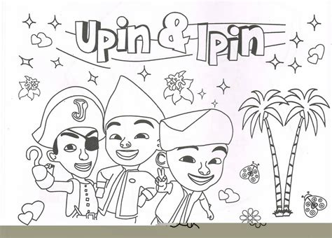 colouring page upin ipin mari mewarna bersama upin ipin 184 acu khaulah