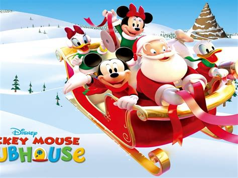 merry christmas mickey mouse  friends  santa christmas disney wallpapers hd