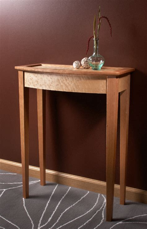 build  bow front entry table