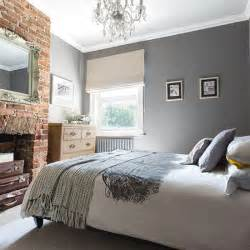 Grey Bedroom Ideas by Grey Bedroom With Brick Fireplace 20 Gorgeous Grey