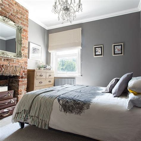 grey bedroom ideas grey bedroom with brick fireplace 20 gorgeous grey bedroom ideas housetohome co uk