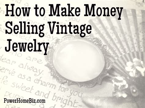 make money selling jewelry how to make money selling vintage jewelry