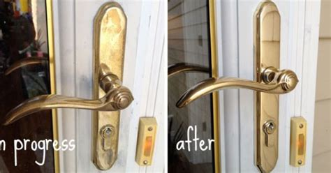 How To Clean Brass Door Knob by How To Rescue Cheap Plated Brass Door Hardware Blue