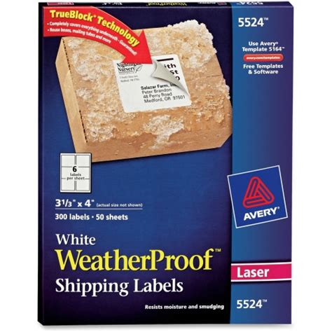 avery weather proof mailing label ave5524 shoplet com