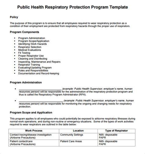 17 Program Template Free Word Psd Formats Creative Template Respirator Program Template
