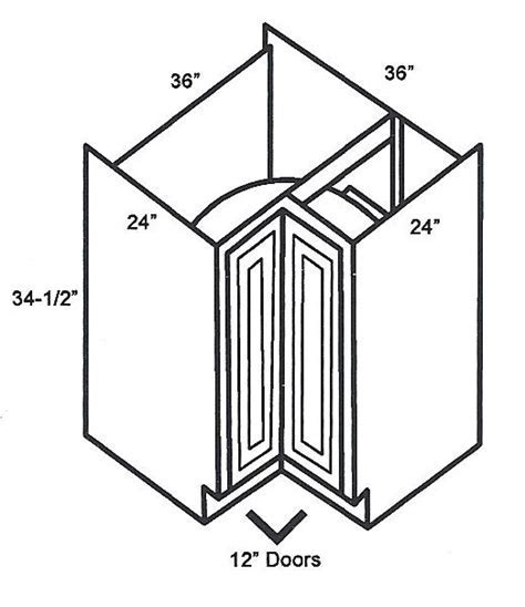 LS3612 Base Corner Cabinets:Lazy Susan Cabinet:Classic