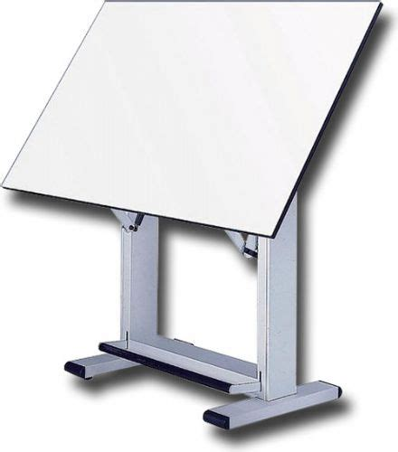 Alvin Elite Drafting Table Alvin Et60 4 Elite Drafting Table White Base With 37 5 Quot X60 Quot Top Angle Adjusts From 0 To 85