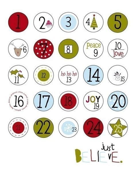 printable advent calendar labels 5 best images of printable labels numbers 1 25 printable