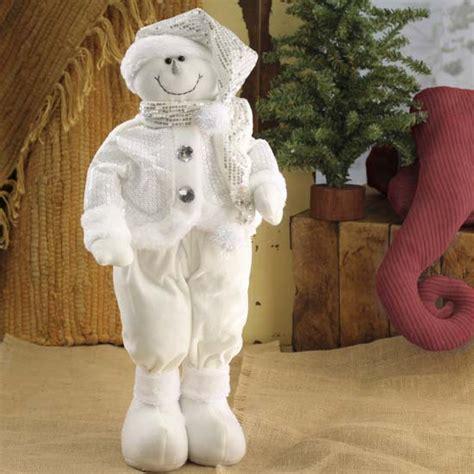 plush standing decorative snowman table shelf