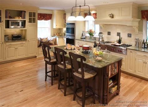 Pictures Of Kitchens Traditional Off White Antique Island Kitchen Design Ideas