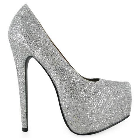 silver glitter high heel pumps silver glitter high heels