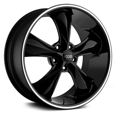 FOOSE® F104 LEGEND Wheels   Black with Machined Lip Stripe