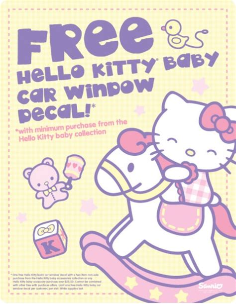 promo by sanrio hello baby car window decal stickers theodmgroup