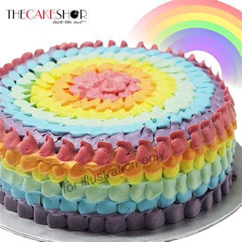 Home Decoration For Birthday by Rainbow Cake