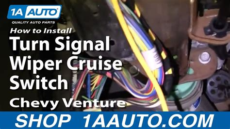 replace combination switch   chevy venture