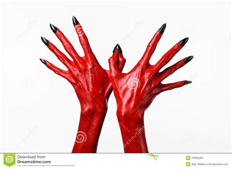 red hands red devil s hands with black nails red hands of satan