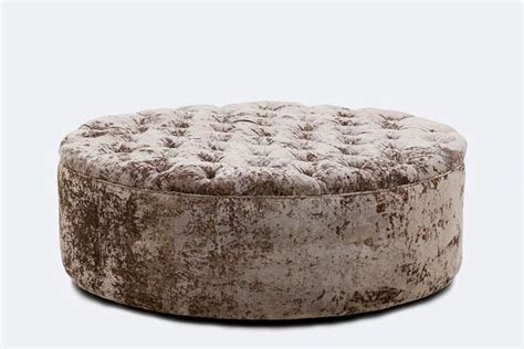 round velvet ottoman ottomans furniture sales inspire furniture rentals pty