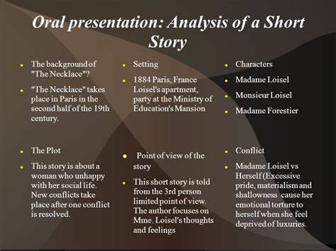 themes of the short story the necklace the necklace by guy de maupassant ppt video online