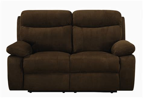 Microfiber Reclining Sofa Sets by 2 Power Reclining Sofa Set In Chocolate