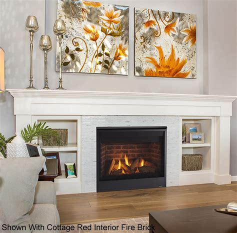 quartz 36 inch direct vent fireplace by majestic s gas