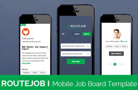 12 job portal templates creative template creative