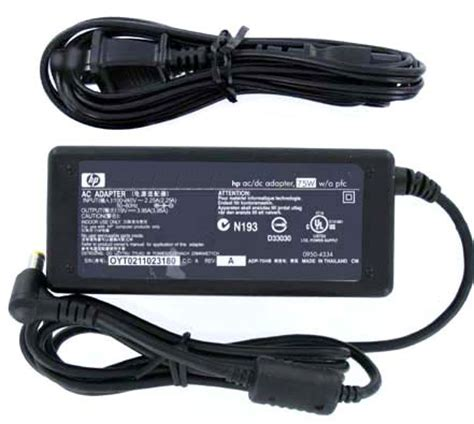 Adapter Hp 195v 95a hp genuine original f4600a 19v 3 95a 75w ac adapter for f4814a adp 75hb omnibook series pavilion