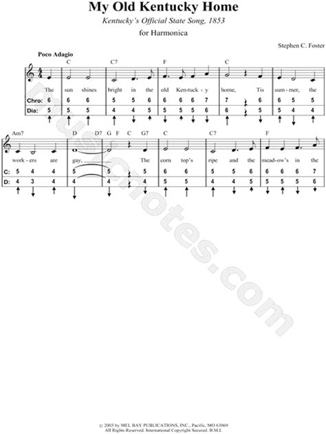 printable lyrics to my old kentucky home stephen c foster quot my old kentucky home quot sheet music in c