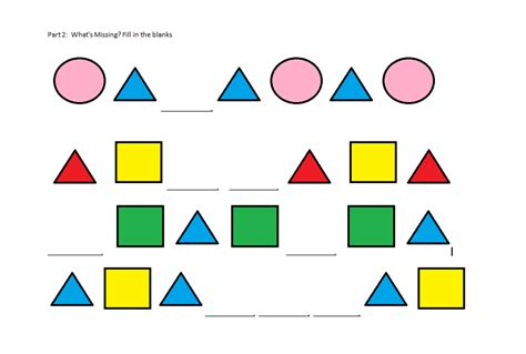 shape pattern questions summative assessment primary patterns