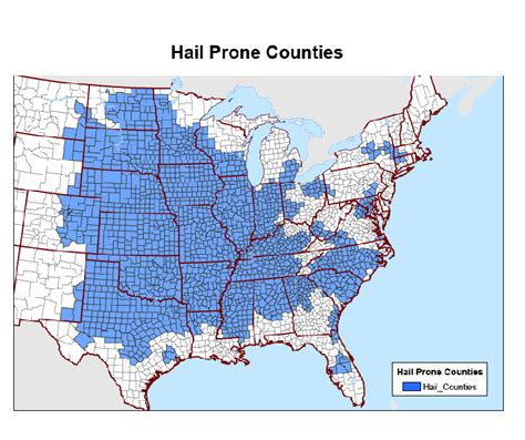 hwh standards map hail prone counties ibhs disastersafety