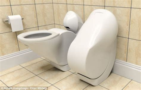 Future Toilet Solves Age Problem by The Fold Up Toilet That Saves Space In The Bathroom
