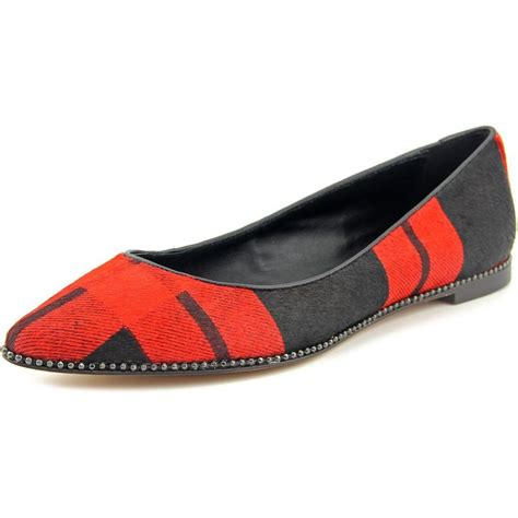 Plaid Flats coach reeves plaid leather flats flats