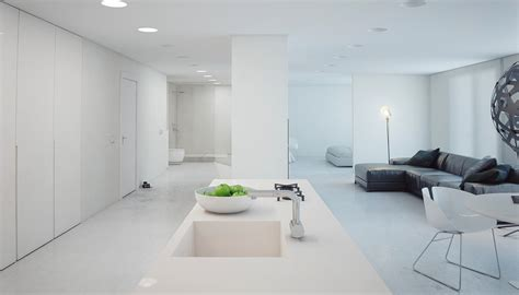 Designs Of Kitchens In Interior Designing a super minimalist modern apartment in white