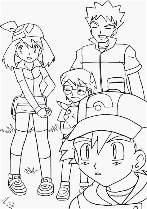 pokemon coloring pages misty pokemon ash brock misty coloring home