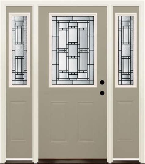 Menards Doors Exterior Mastercraft Venice 36 Quot X 80 Quot Prefinished Steel Door W 14 Quot Sidelites Lh At Menards For The
