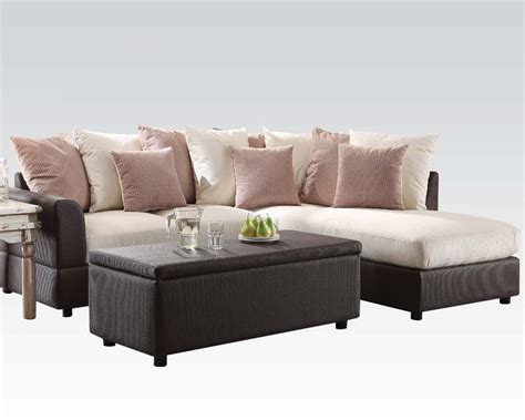 acme sectional sofa sectional sofa barlow by acme furniture ac51435