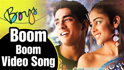 song boom boom boom i want you in my room boom boom song lyrics boys tamil siddharth adnan sami ar rahman shankar
