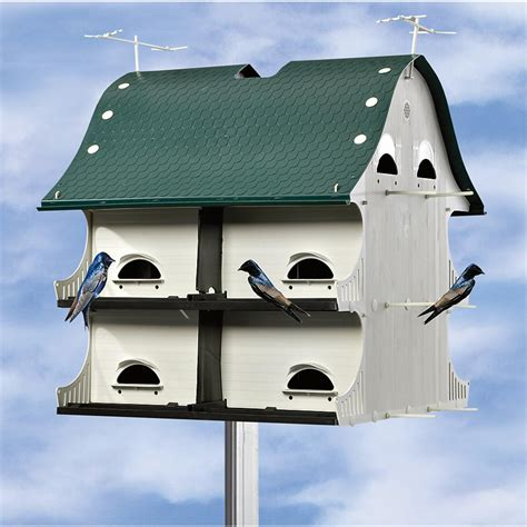 martin houses 12 room american barn purple martin house 173679 bird houses feeders at sportsman