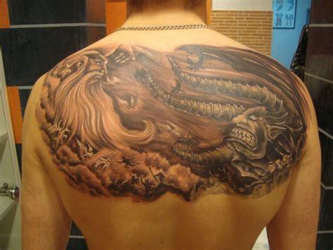 god vs devil tattoo designs god vs sleeve www pixshark images