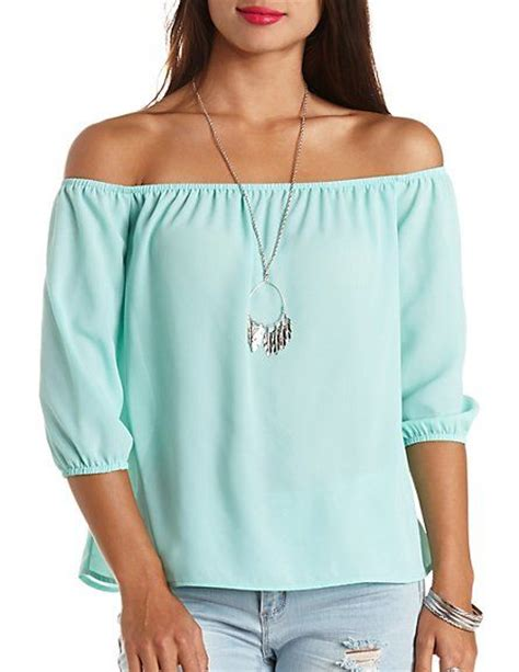 Shoulder Top Chullote chiffon the shoulder top russe