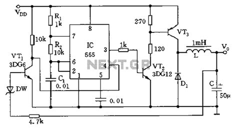 switch mode power supply circuit diagram gt power supplies gt switch mode gt inductive switching power