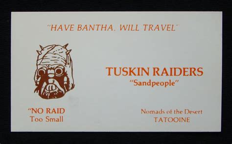 wars cards if wars characters had business cards they d look