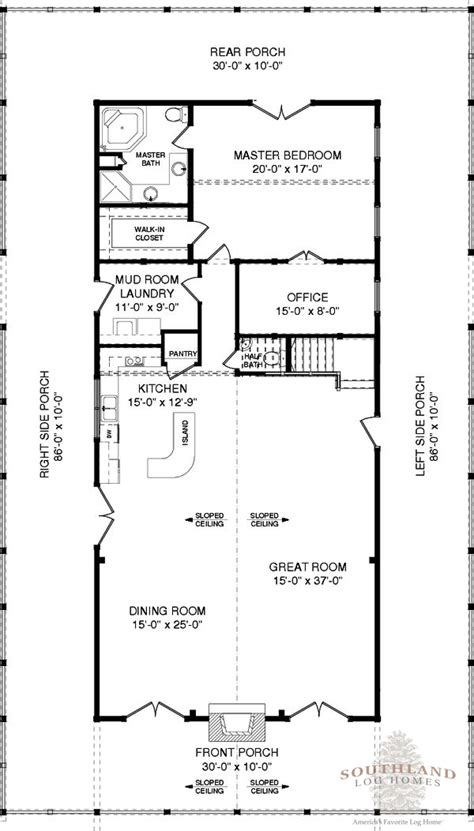 sullivan floor plan sullivan plans information southland log homes