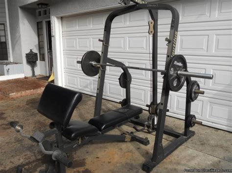 costco nautilus weight set like new lat pull squat