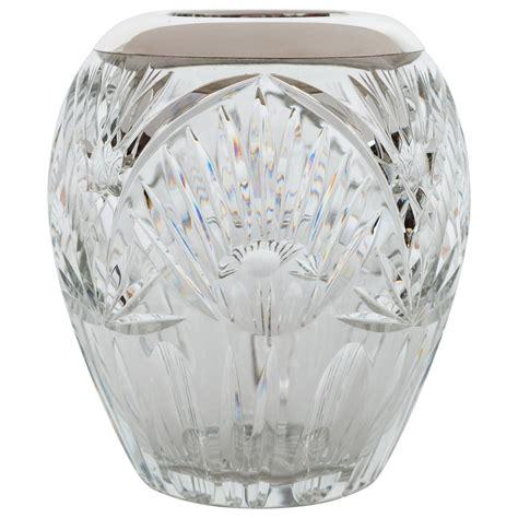silver vase elegant cut crystal and sterling silver vase for sale at