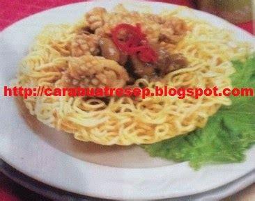 membuat ifumie goreng cumi seafood resep masakan